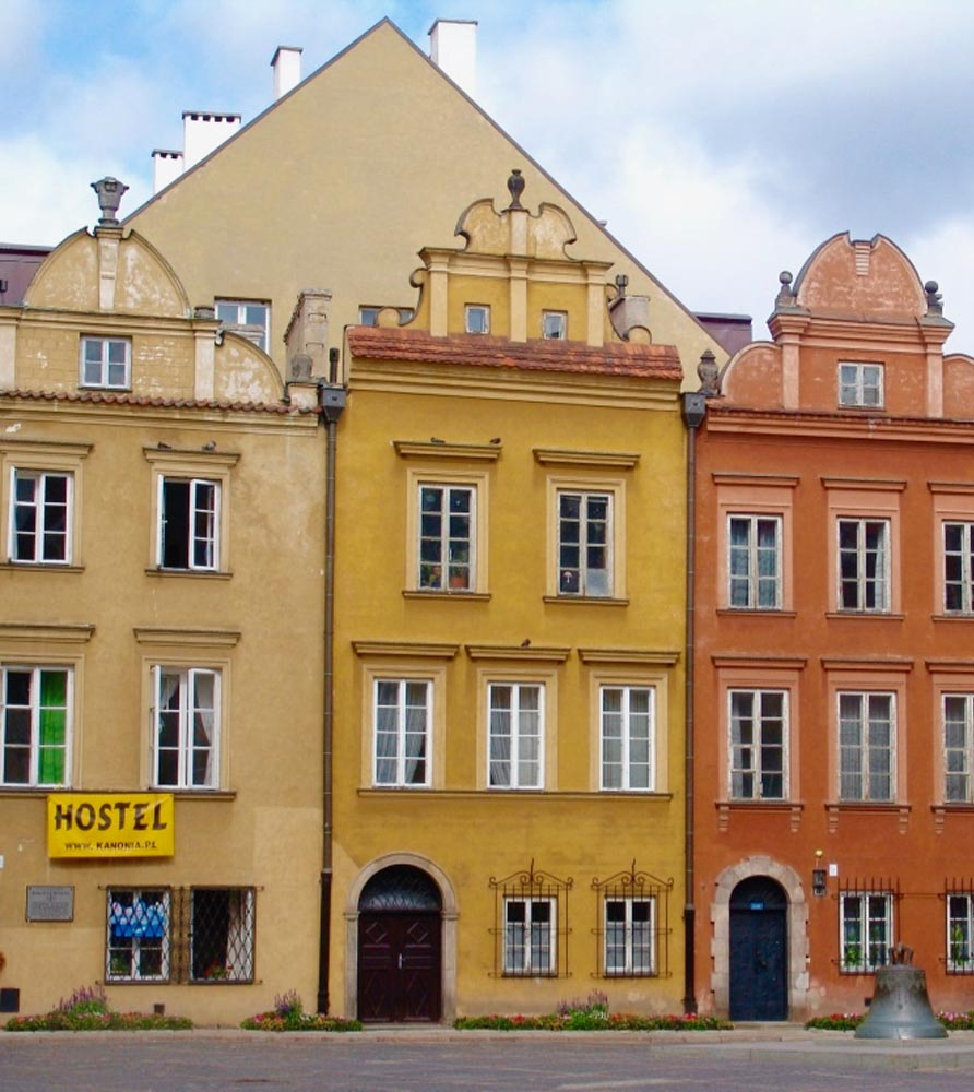Colorful buildings in Poland | ONEPAGEWEBSITE.PRO