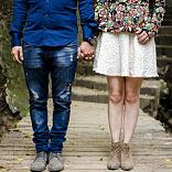 Engaged couple holding hands | ONEPAGEWEBSITE.PRO